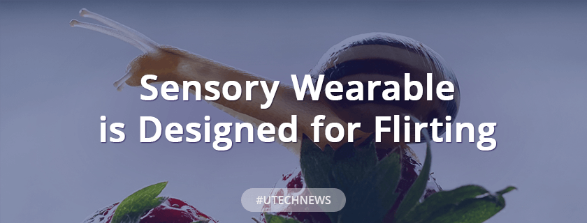 This sensory wearable is designed for flirting