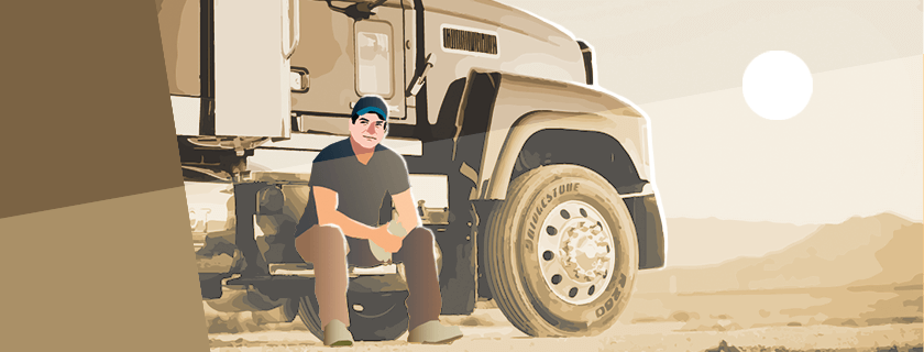 Man with truck